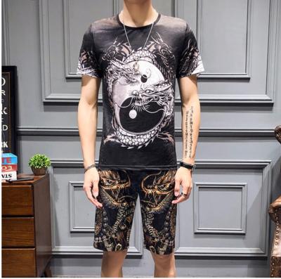 Tracksuit Men Summer Luxury 3D Print/ conjunto  Ropa Coreana Hombre