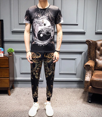 Chinese Style Casual Men Sets Fashion /  Ropa Coreana Hombre