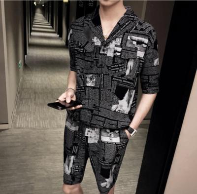 Printing Set Social Club Outfits/  Ropa Coreana Hombre