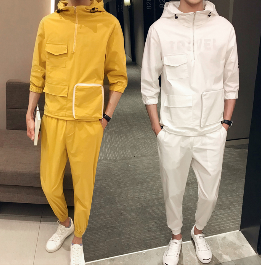 Summer Chinese Style Solid Color/  Ropa Coreana Hombre
