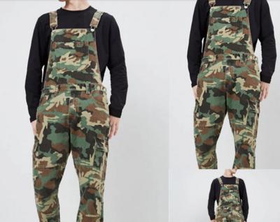Camofluage Printed Jumpsuit Fashion /  Ropa Coreana Hombre