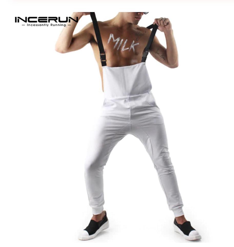 Loose Casual Streetwear Jumpsuit  /  Ropa Coreana Hombre