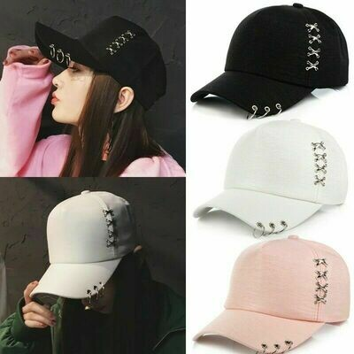 KPOP Boys Hat Iron Ring Baseball/ Gorra Korean Style