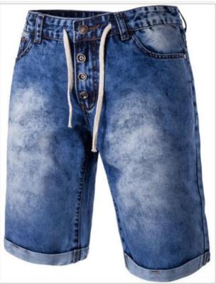 Fashion Mens Denim Shorts Summer  Ropa Coreana Hombre
