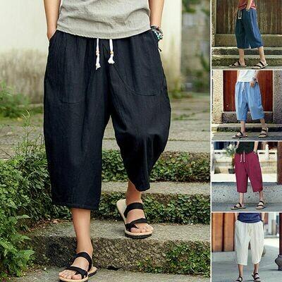 Wide Leg Shorts Summer Loose  Ropa Coreana Hombre