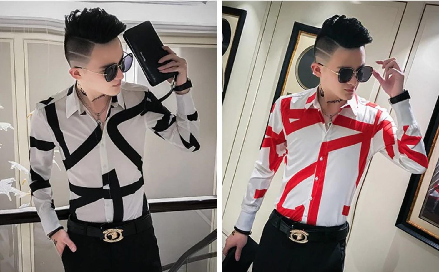 Men Casual Shirt /Camisa Korean Style