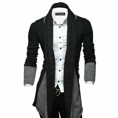 Men Knitted Cardigan Jacket / Saco Korean Style