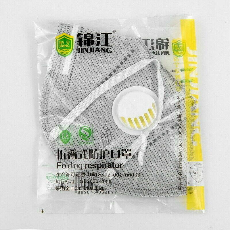 5 PCS KN95 Face Valved Mask Anti Bacteria Dust