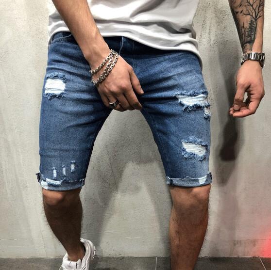 Short Mezclilla Pantalon Cort Slim Fit Korean Style