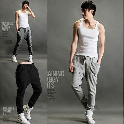 Men's Hip Hop Sports Casual Pocket Pants / Pants Korean Style