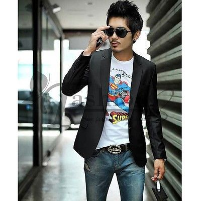 Casual Slim Fit One Button Blazer / Jackets Korean Style