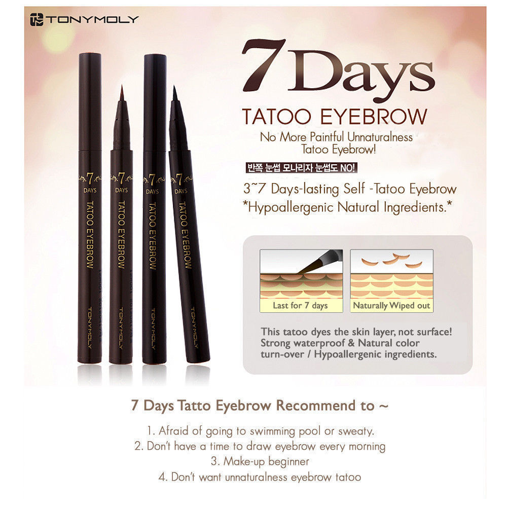 TONYMOLY 7Days Tatoo Eyebrow - Dark Brown   / Maquillaje Ropa Coreana