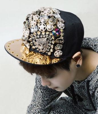 ip-hop Cap Rapper Hat Spike Rivet Spiky Studded