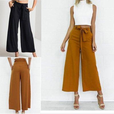 Women High Waist Bow Pants / Pantalon Korean Style