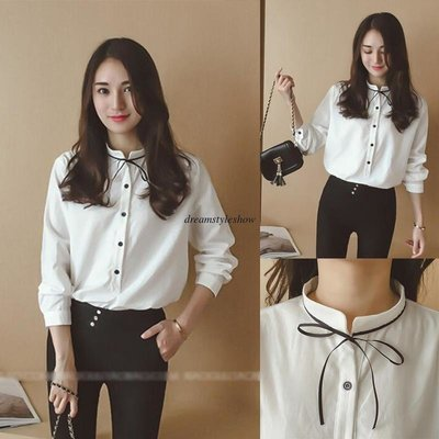 Women Long Sleeve Blouse/ Camisa Dama Korean Style