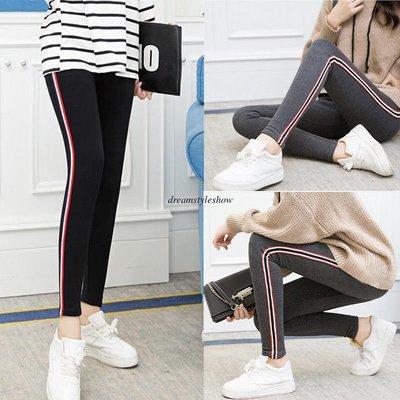 Winter Warm Striped Pants / Pantalon Dama Korean Style