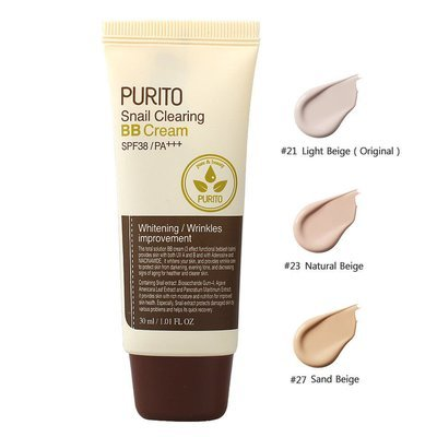 PURITO Snail Clearing BB Cream SPF38/PA++ 30ml