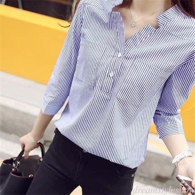 Women Striped Shirt/ Camisa Dama Korean Style