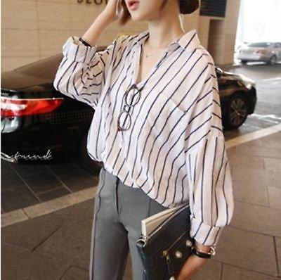 Women Striped Shirt / Camisa Dama Korean Style