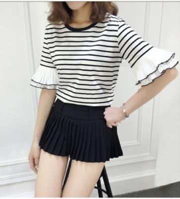 Blusa De Rayas Manga Olan / Camisa Dama Korean Style