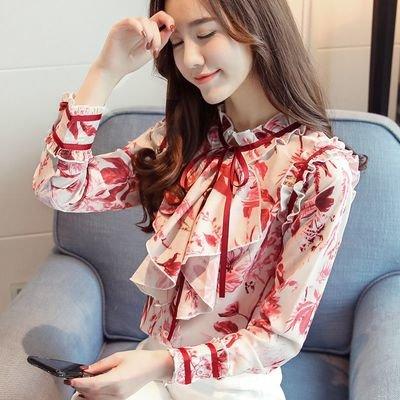Women Long Sleeve Blouse / Camisa Dama Korean Style