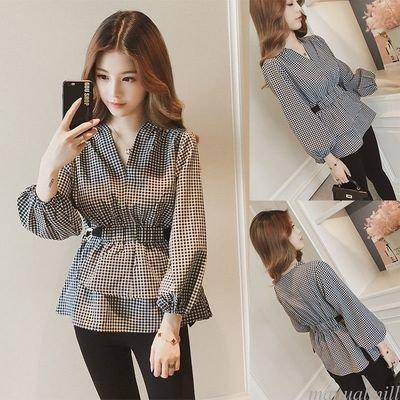Casual Striped Blouse / Camisa Dama Korean Style