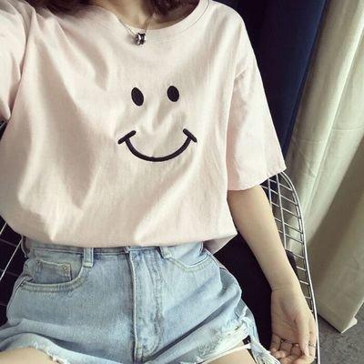T-Shirt Happy Face / Camisa Dama Korean Style