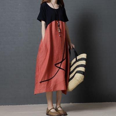 Loose Casual  Short Sleeve   / Vestido Dama Korean Style