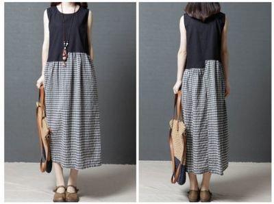 Baggy Long Maxi Dress Plus/ Vestido Dama Korean Style