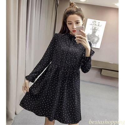 V Neck Loose A Line Chiffon Summer /  vestido Dama Korean Style