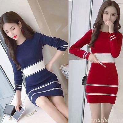 Basic Short Dress Tops /  vestido Dama Korean Style
