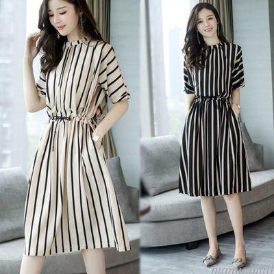 Vestido Con Rayas /  vestido Dama Korean Style