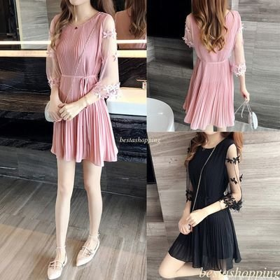 unic Skater Dress/  vestido Dama Korean Style