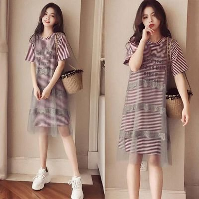 Casual Shirt A Line Summer Dress/  vestido Dama Korean Style