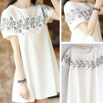 Casual Summer Shirt Tunic Dress/  vestido Dama Korean Style