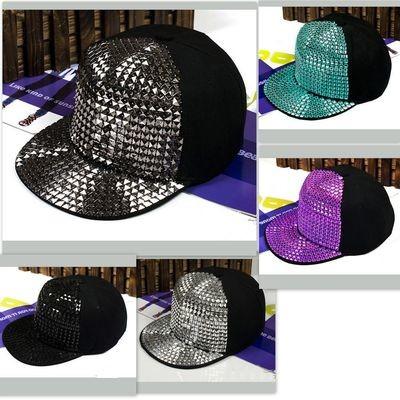 Hip-hop Cap Rapper Hat Rivets Spikes Spiky Studded