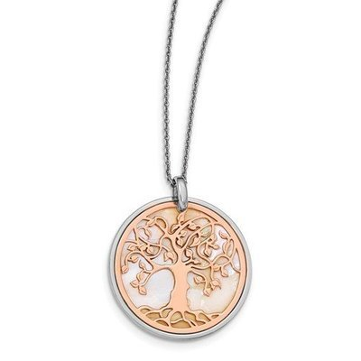 Leslie's Sterling Silver And Rose Tone Tree Of Life