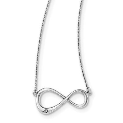 Sterling Silver White Ice Diamond Infinity