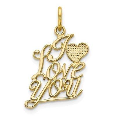 10k I Love You Charm