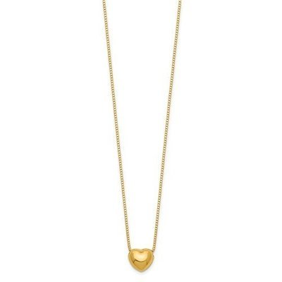 14k 16in Chain With Heart Charm Necklace