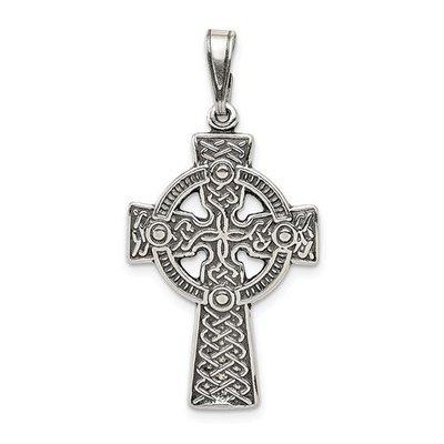 Sterling Silver Antiqued Celtic Cross Pendant