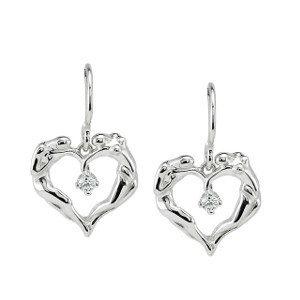 14k Gold/Gem Dangle Earrings