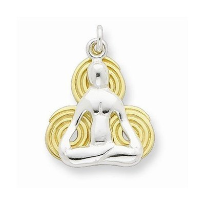 Sterling Silver Yoga Pendant