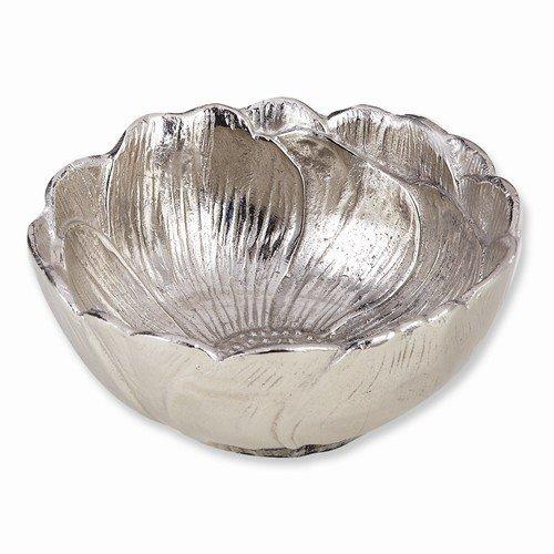 Nickel-Plated Aluminum Lotus Bowl