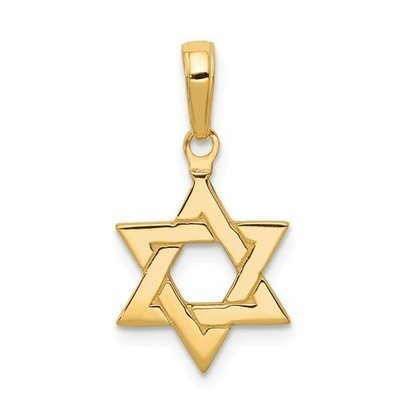 14k Polished Star Of David Pendant
