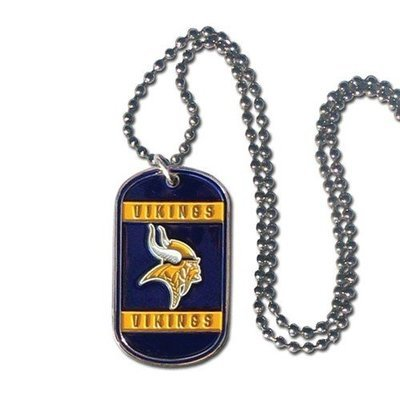 NFL Vikings 36 Inch Dogtag Chain Necklace