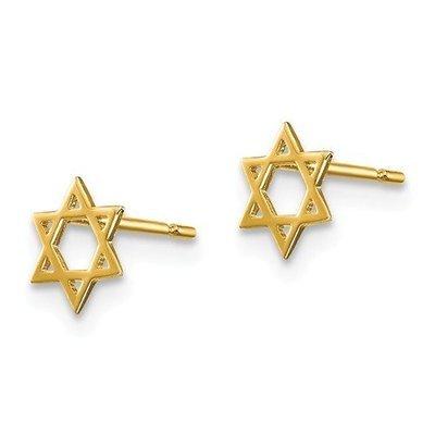 14k Madi K Children's Star Of David Post Earrings