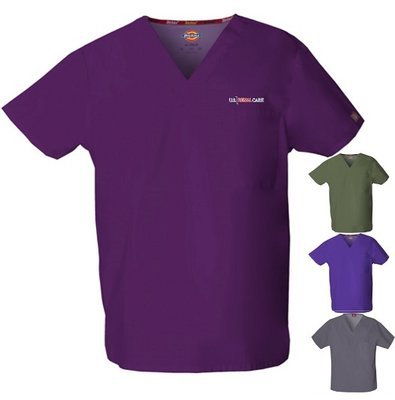 Scrub Top - Jewel Tone