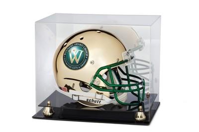 Chrome Football Helmet with case - Full Size Replica