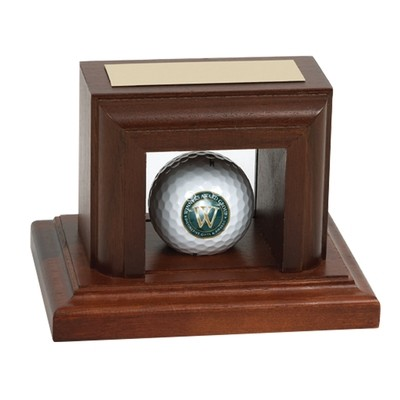 Wood Golf Ball Display Case
